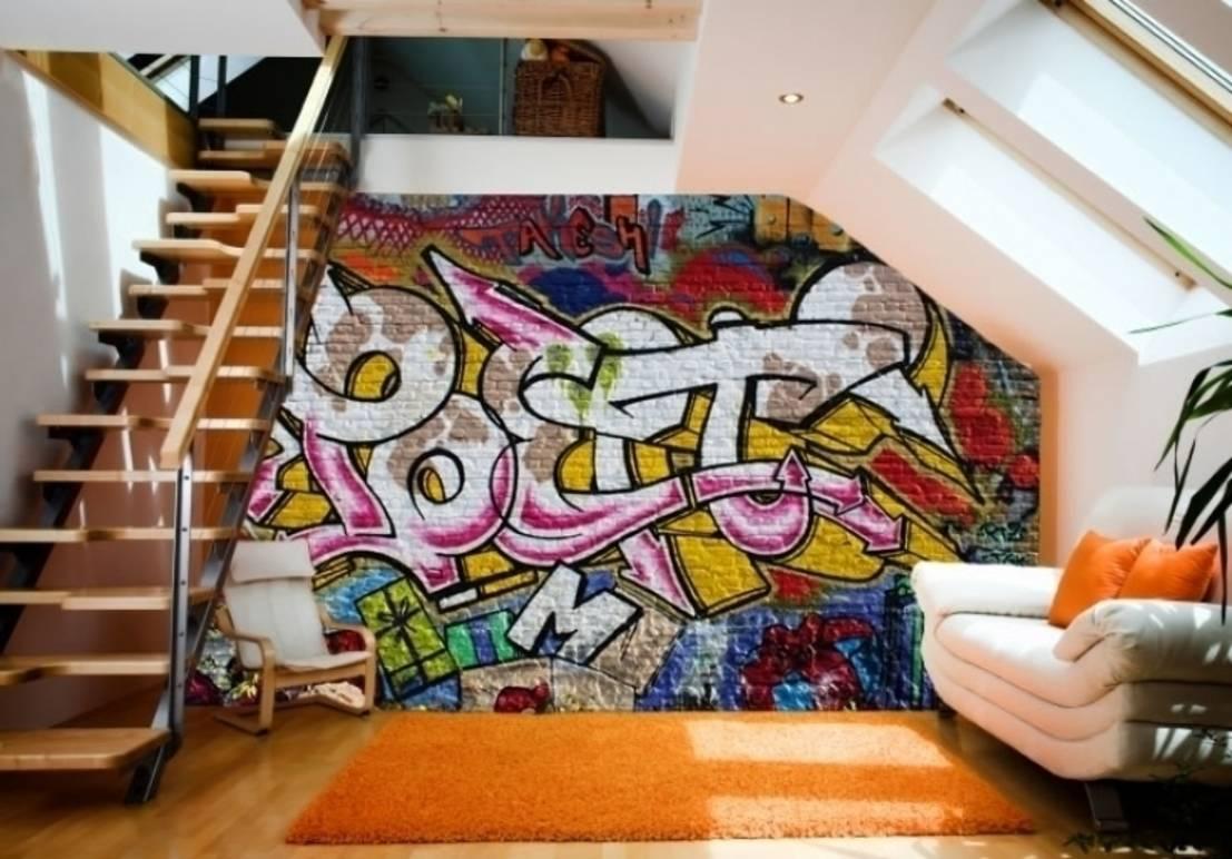 graffiti duvar dekorstore. Black Bedroom Furniture Sets. Home Design Ideas