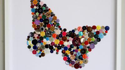 Düğmelerden Dekoratif Tablo Yapımı