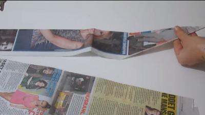 Gazete Dokuma Tekniği İle Sepet Yapma