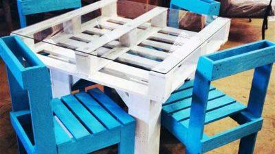 Paletten Masa Sandalye Yapımı