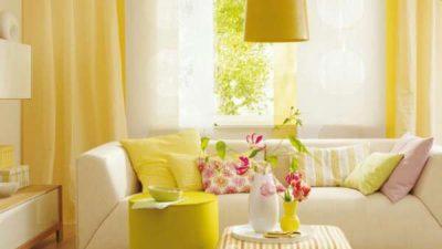 Sarı Renk Ev Dekorasyonu