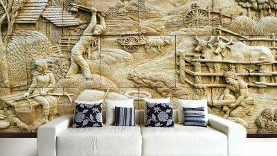 Kabartmalı Duvar Kâğıdı Modelleri