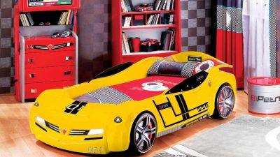 Çocuklar İçin Muhteşem Arabalı Yatak Tasarımları