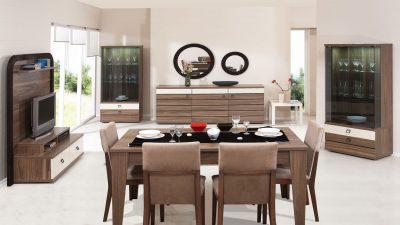 Kahverengi Yemek Odası Dekorasyonu